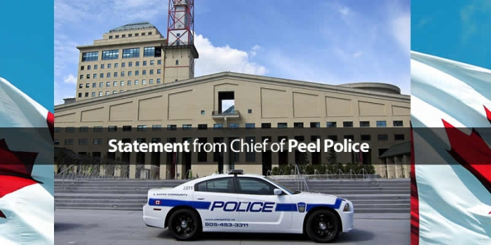Message from Peel Police Chief Jennifer Evans